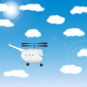 Helicopter - Illustration — Stock Vector