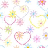 Flower Garden Seamless Pattern - Illustration — Stock Vector
