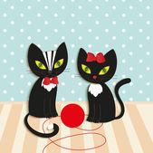 Kočky - ilustrace, vektor — Stock vektor