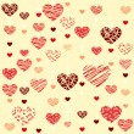 Painting heart - Illustration, vector. — Stock Vector