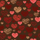 Seamless heart background - Illustration — Stock Vector