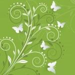 Vector background with paper butterflies. — Stock Vector #32992289