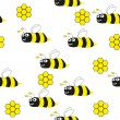 Bees seamless pattern - Illustration — Image vectorielle