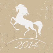 New Year symbol of horse - vector illustration — Stock Vector