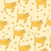 Cats seamless pattern - Illustration — Stock Vector