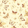Seamless butterflies - illustration, vector — Stock Vector #33659423