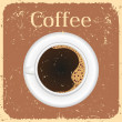 Cup of black coffee - vector illustration  — Imagens vectoriais em stock
