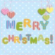 Vecteur: Merry Christmas greeting card design.
