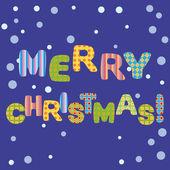 メリー クリスマスのグリーティング カードのデザイン. — ストックベクタ