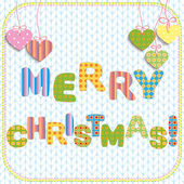 Merry Christmas greeting card design — Vector de stock