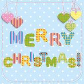 Veselé vánoční pozdrav card design. — Stock vektor