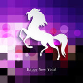 Símbolo de ano novo do cavalo - ilustração, vetor — Vetor de Stock