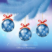Christmas Card - vector illustration — Stock Vector