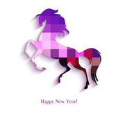 New Year symbol of horse - Illustration, vector — Stock Vector