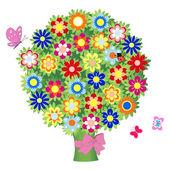 Bouquet of flowers - illustration, vector — Stock Vector