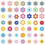 Vector Flower Set - Illustration — Stock Vector