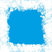 Happy winter snowflakes background — Stock Vector