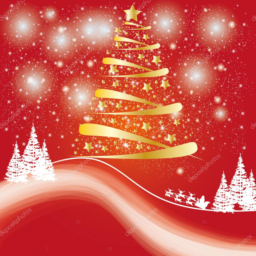Beatiful christmas car or background — Stock Vector #13911636