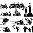 ICON MAN MOTO GP — Vector de stock #12130076