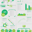 Stock Vector: INFOGRAPHIC DEMOGRAPHICS 5 GREEN
