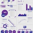 Stock Vector: INFOGRAPHIC DEMOGRAPHICS 5 PURPLE