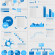 Stock Vector: INFOGRAPHIC DEMOGRAPHICS 5 BLUE