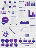 INFOGRAPHIC DEMOGRAPHICS 5 PURPLE — Stock Vector
