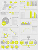 INFOGRAPHIC DEMOGRAPHICS 5 YELLOW — Stock Vector