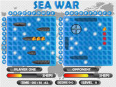 SEA WAR GAME — Stock Vector