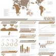 Stock Vector: INFOGRAPHIC DEMOGRAPHICS POPULATION 2BROWN