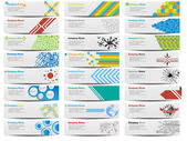 COLORFUL BANNER SET OF TWENTY-FOUR — Stockvector