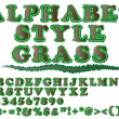 Royalty-Free Stock Vector Image: ALPHABET STYLE GRASS 2