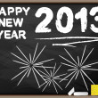 HAPPY NEW YEAR 2013 BLACKBOARD — Stock Vector