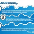 Stock Vector: CLOUD COMPUTING BACKGROUND