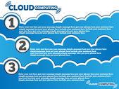 Fondo de computación en la nube — Vector de stock
