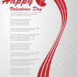 BACKGROUND VALENTINES DAY — Vector de stock
