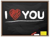 BLACKBOARD I LOVE YOU VALENTINE — Stock Vector