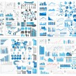 Royalty-Free Stock Imagen vectorial: INFOGRAPHIC WEB ELEMENT MEGA COLLECTION EXTREME