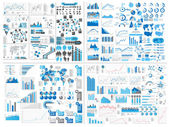 Infografica web elemento mega raccolta estrema — Vettoriale Stock