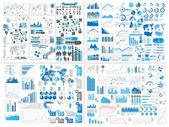 Infographik web mega elementauflistung extreme — Stockvektor