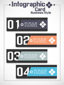 Infographic businnes kart stili 2 — Stok Vektör