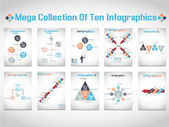 INFOGRAPHICS MEGA COLLECTIONS OF TEN MODERN ORIGAMI BUSINESS SET STYLE OPTIONS BANNER 2 — Stock Vector