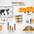 INFOGRAPHIC DEMOGRAPHIC ELEMENT WEB NEW STYLE — Stock Vector