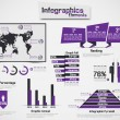 INFOGRAPHIC DEMOGRAPHIC ELEMENT WEB NEW STYLE PURPLE — Stock Vector #25191157