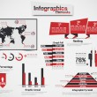 INFOGRAPHIC DEMOGRAPHIC ELEMENT WEB NEW STYLE RED — Stock Vector #25191159