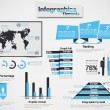 INFOGRAPHIC DEMOGRAPHIC ELEMENT WEB NEW STYLE HEAVENLY - Stock Vector