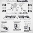 INFOGRAPHIC DEMOGRAPHIC NEW STYLE 10 GREY — Stock Vector