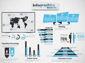 Infographic demografik öğesi web yeni stil göksel — Stok Vektör