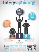 Infografiken modernen business blase mann symbolformat 3 — Stockvektor