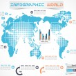 Stock Vector: INFOGRAPHIC WORLD MODERN EDITION 2